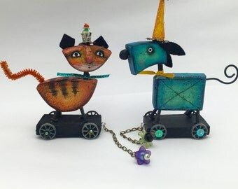"Online class "" cats and dogs on wheels "" by Julie haymaker Thompson"