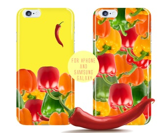 Peppers Samsung Galaxy s7 Edge Case Chili Samsung Galaxy S7 Vegetable Pattern iPhone 6 Plus Case Food Pattern iPhone 6 Case Color Phone Case