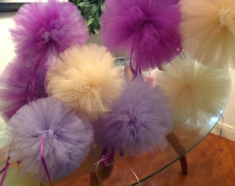 This listing is for (20)  tulle poms for weddings birthday parties and more