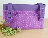 Powerchair - Walker Bag:  Fun Purple Paw Print, with a purple lining.