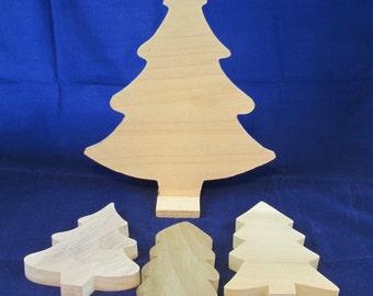 Raw Wood Craft Supplies Destash - Christmas Trees Pine