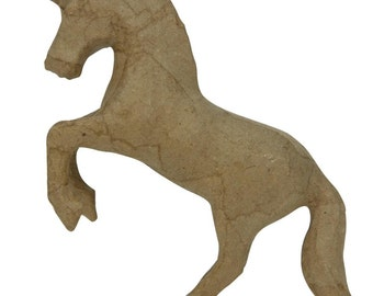 Paper Mache Unicorn to Paint or Embellish as Desired