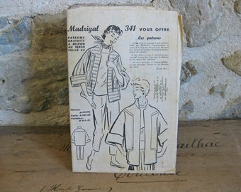 1950s sewing pattern for jacket and trousers Madrigal 341