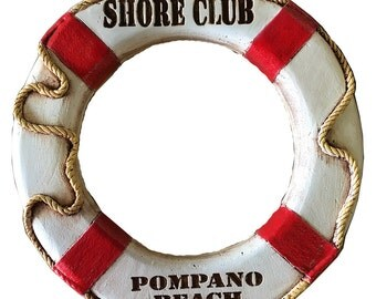 Nautical Home Port Life Ring Personalized with a name or address