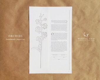 SALE Orchids papercut ketubah