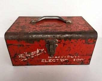 Vintage Red Milwaukee Toolbox