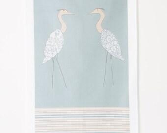 Coastal Dish Towel (Herons)