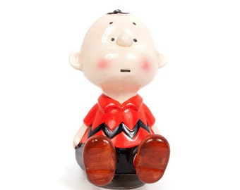 Vintage CHARLIE BROWN Music Box 1966 Schmid Somebody Loves Me Made in Japan PEANUTS Music Box Mint Condition