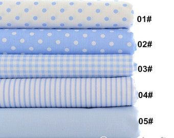 Dot Fabric Blue Dotted Fabric,Shabby Chic Dotted Fabric, Cotton Fabric 1/2 Yard (QT686)