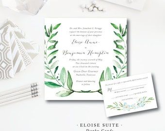 Eloise Suite | Wedding Invitations | Printed by Darby Cards Collective
