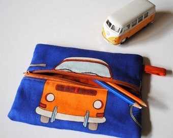 Kombi Van Case with a Zip - Zippered Pencil Pouch
