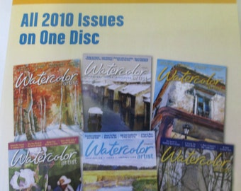 The Watercolor Artist Magazine 2010 Back Issues DVD 6 issues Annual disc new