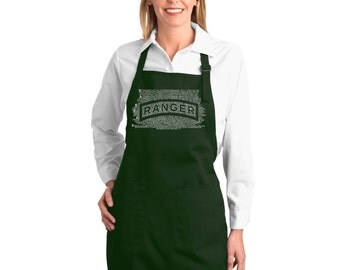 Full Length Apron - The US Ranger Creed Created using The Ranger Creed