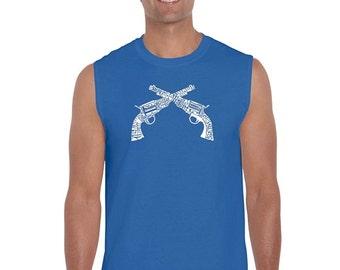 Men's Sleeveless Shirt - CROSSED PISTOLS