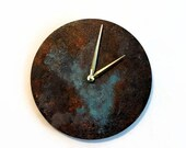 Sale, Wall Clock, Patina, Rustic Clock, Industrial Chic Home Decor, Home and Living, Clocks