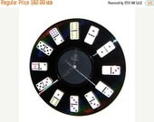 Sale, Game Room Clock, Bar Decor, Home and Living, Decor and Housewares, Home Decor, Domino Clock, Game Room Decor,  Gift For Him