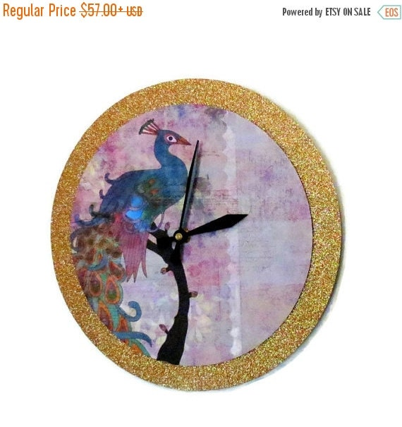 Sale Unique Wall Clock Peacock Decor Decor And By Shannybeebo