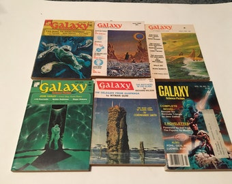 37 1960s and 1970s science fiction magazines