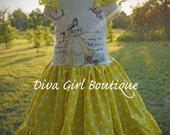Beauty and the Beast Dress - Belle Dress - Bell Dress - Yellow Disney Dress - Boutique Dress - Girls Clothing - Childrens Clothes - Kids