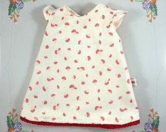 Leicen Toadstool print Dolls Dress 36cm/14in