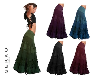 FLAMENCO SKIRT, wrap Skirt, GYPSIE skirt, long skirt, Clskzf