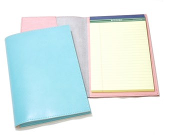 Personalized Leather Legal Pad Cover - teal blue, leather legal portfolio, leather portfolio, handmade portfolio, monogramming, file folder