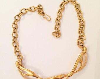 Modernist Swirl Necklace Vintage Jewelry, FALL SALE