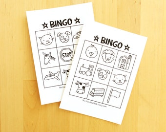 Kids Travel Printable Bingo Cards - Family Travel Games for Kids Summer Printable Games Fun Car Games for Toddlers Road Trip Activities