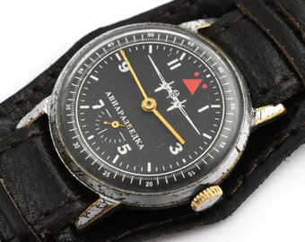 vintage Russian Soviet mechanical men's watch POBEDA AERIAL RECONNAISSANCE v218