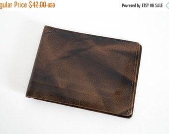Mens Genuine Leather Bifold Wallet by Prince Garner 1960s