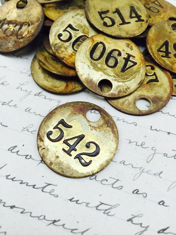 Vintage Brass Tags 34