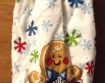 Christmas crochet hand towel