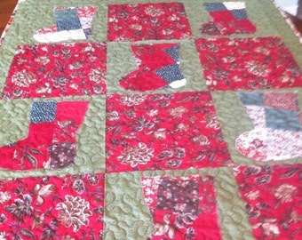 Sale Scrappy Holiday Lap Quilt