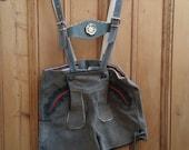 Boys vintage tradition German suede leather shorts Oktoberfest Bavarian folk  Lederhosen breechers suspenders Dolly Topsy Etsy UK