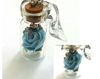 Cinderella Inspired Bottle Keyrings