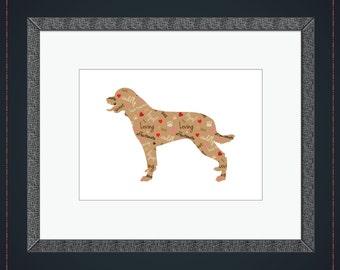 Rottweiler Wall Art - Pattern Print