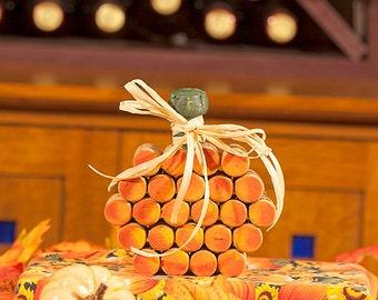 Halloween Pumpkin - Pumpkin Decor -  Wine Corks - Halloween Decor - Fall Decor - Hostess Gift - Housewarming Gift  - Fall Centerpiece