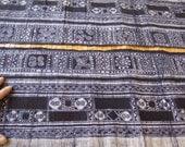 Handwoven Hmong Hemp, Vintage Batik fabric, Indigo blue- textiles and fabrics - Table runner,
