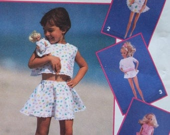 Barbie and Me Matching outfit pattern UNCUT Simplicity 8388