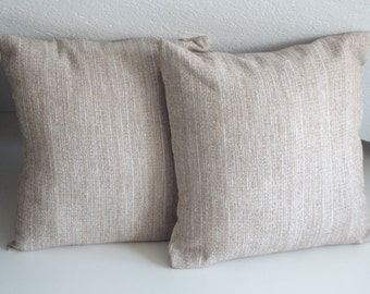Beige pillow covers, cushion case, beige pillow, 16x16