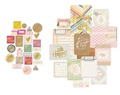 Project Life Mini Kit -- Gold Foil -- Becky Higgins -- 130 Pieces -- Cards & Embellishments -- Notes and Things
