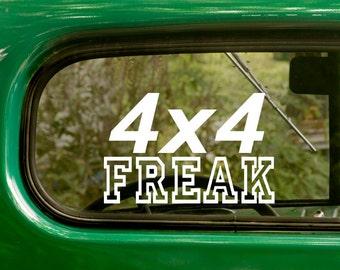4x4 Freak Decal, Car Decal, Jeep 4x4 Freak Sticker, Jeep Sticker, Truck Sticker, Laptop Sticker, 4x4 Decal, Bumper, Vinyl Decal, Car Sticker