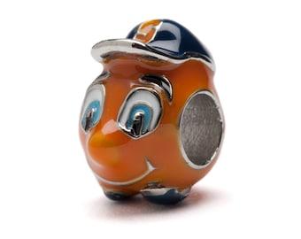 Syracuse University Orange Mascot Bead Charm - Fits Pandora