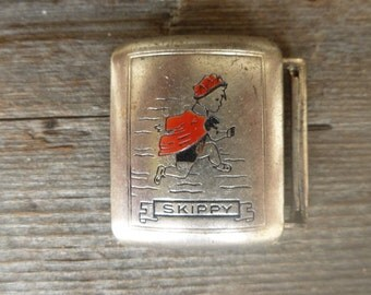 Vintage Skippy Cartoon Character Belt Buckle