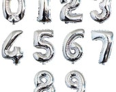 Balloons - 40 inch Jumbo Foil Letter Balloon 0-9 Number Balloon Silver Balloons Wedding Balloon ( Wedding Decor & Party Balloon Supplies )
