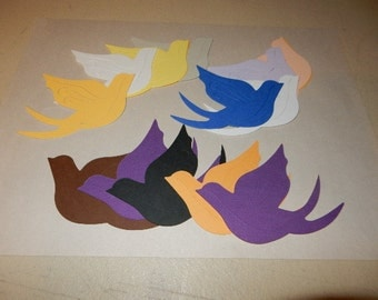 Paper Die Cuts: Birds -Sparrow Lot