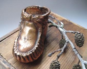 Vintage Bronze Baby Shoe