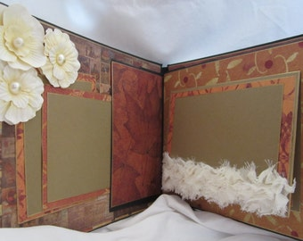 Thanksgiving Scrapbook Album, Photo Album by Island Lilly Designs