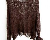 Cotton summer sweater Woman cotton sweater  Loose knit wear women knitwear