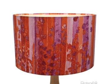 "35cm / 14"" Lampshade Vintage 60s Cockade Fabric Joan McFetrich For Heals"